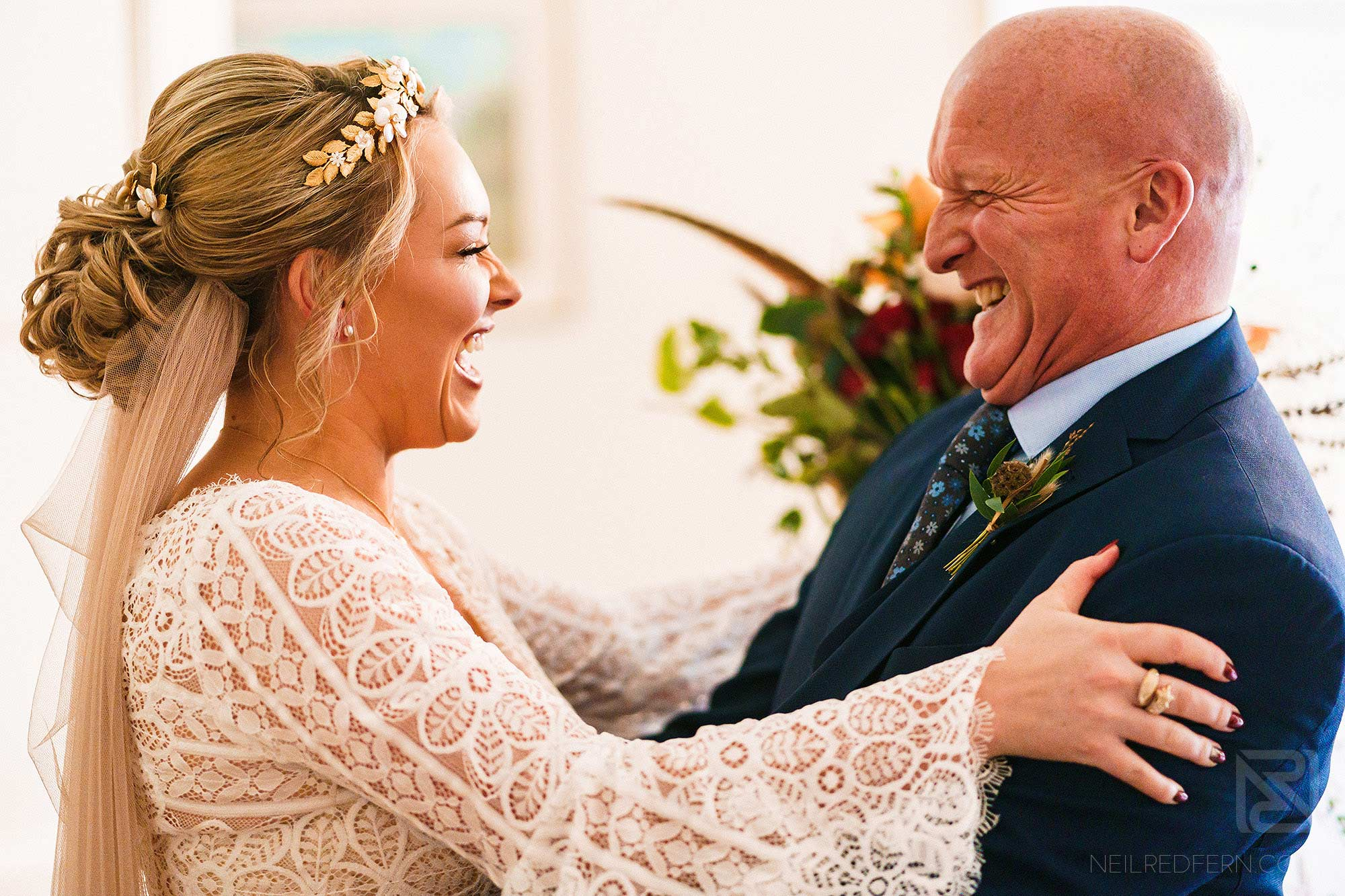 real moment between bride and dad