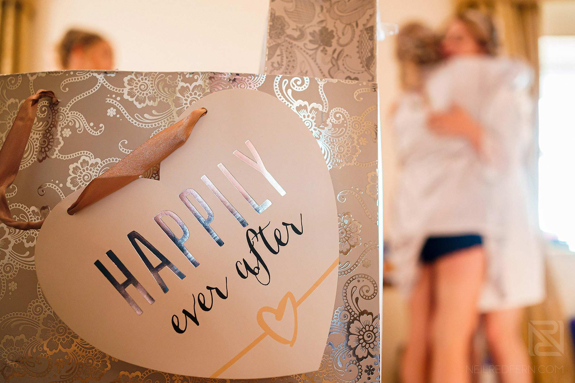 creative photograph on morning of Peckforton Castle wedding
