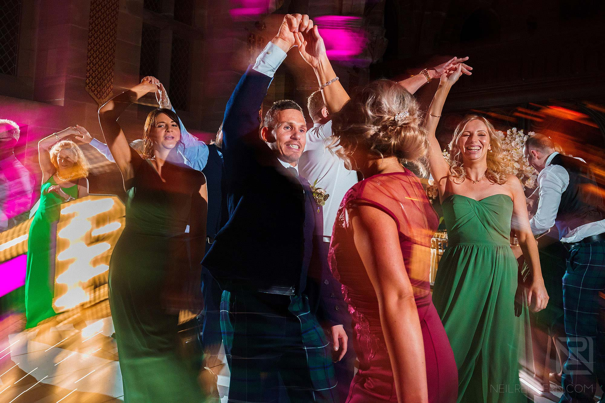 scottish dancing at Peckforton Castle