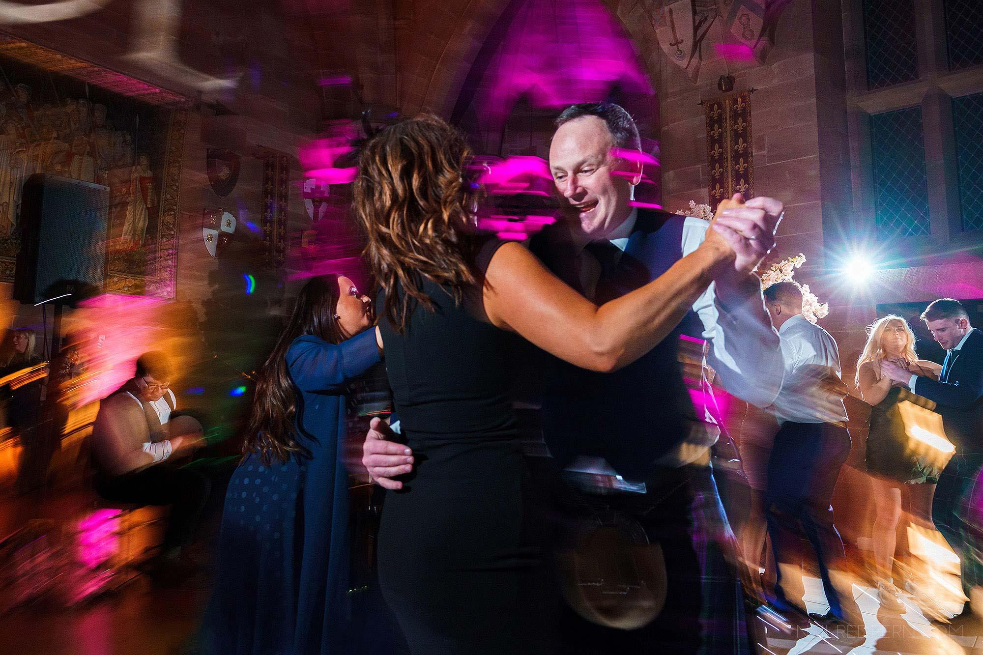 Cèilidh dancing at Peckforton Castle
