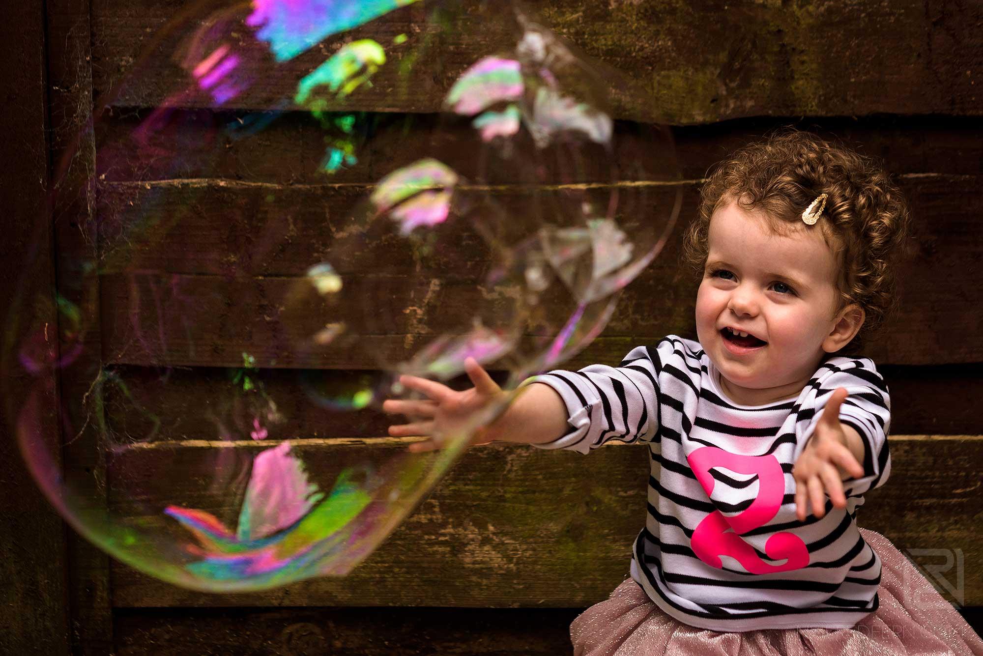 little girl on family portrait shoot